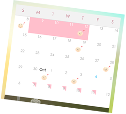 Period Tracker - calendar view